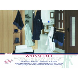 Набор семейный WAINSCOTT (халат- 2шт. + полотенце - 2 шт.)