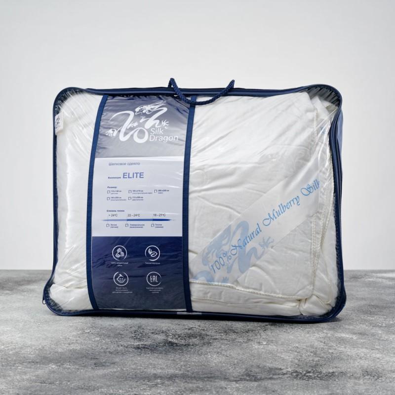 Шелковое одеяло Silk Dragon Elite 1,5-спальное (евро) легкое