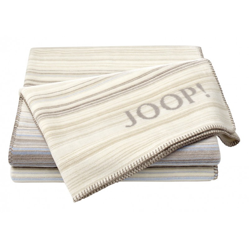 Плед Joop! Soft-Stripes бирюза-кремовый